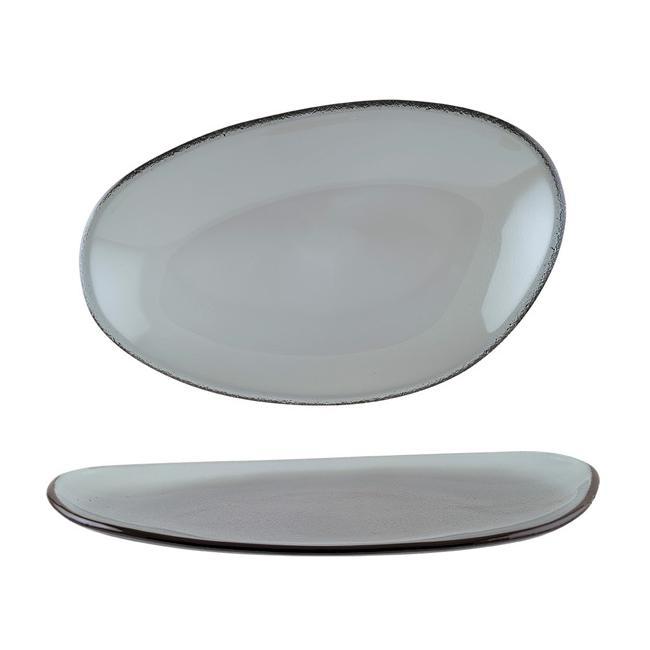 Стъклена чиния овал 21см BONNA-GLASS VAO-(GLVAO21OKY)
