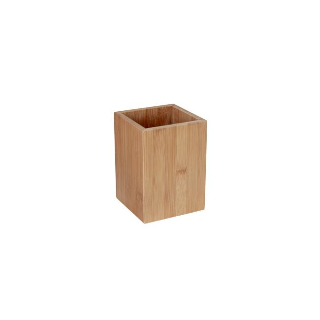 Бамбукова стойка за прибори 11x11xh15см (U301) - Horecano