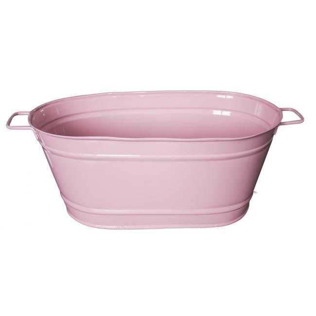 Метално овално сандъче розово голямо FERONYA-(8624-2)