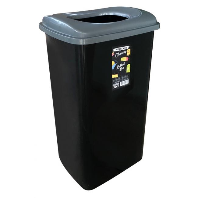 Пластмасов кош за отпадъци 70л сиво/черно HORECANO-(4398)