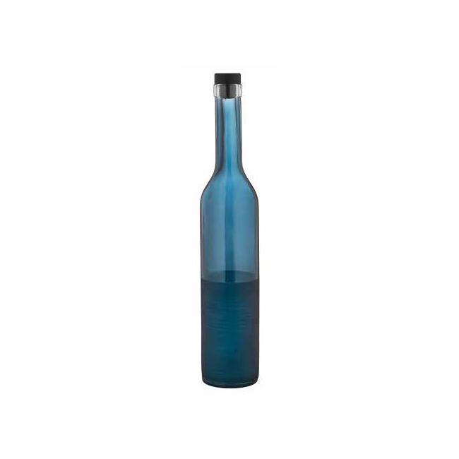 Стъклена бутилка за зехтин с тапа синя 500мл COBALTM-152018- Horecano