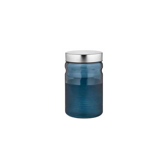 Стъклен буркан с метална капачка син1,4лCOBALTM-132014 - Horecano