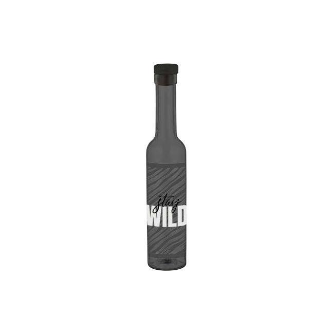 Стъклена бутилкас декор и тапа 500мл