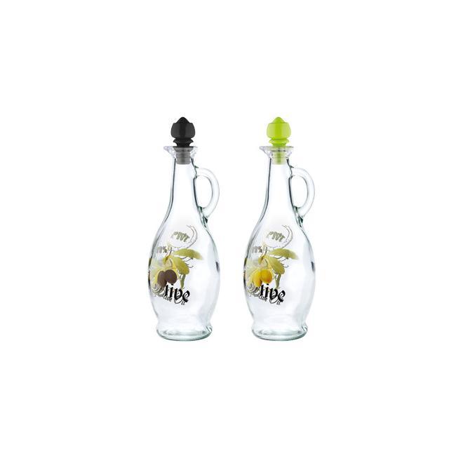 Стъклена бутилка за зехтин с различни декори 750мл