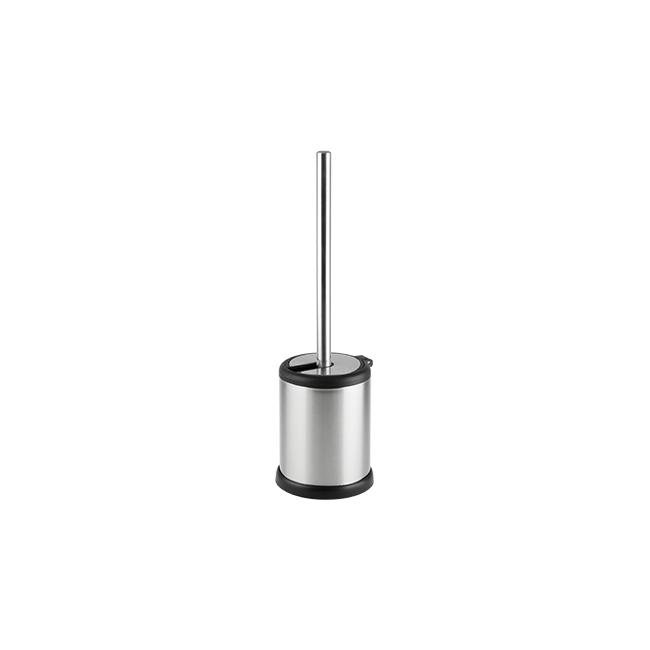 Иноксова четка за тоалетна с черен кант 11,5x11,5x38см G-(13122-007) - Horecano