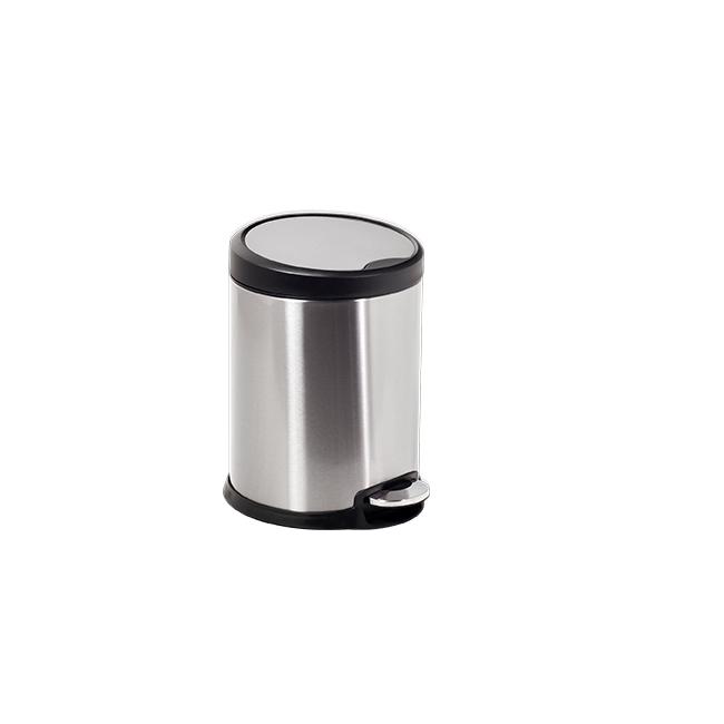 Иноксов кош с педал  с черен кант 22x22x28,5cм 5л G-(11605-003) - Horecano