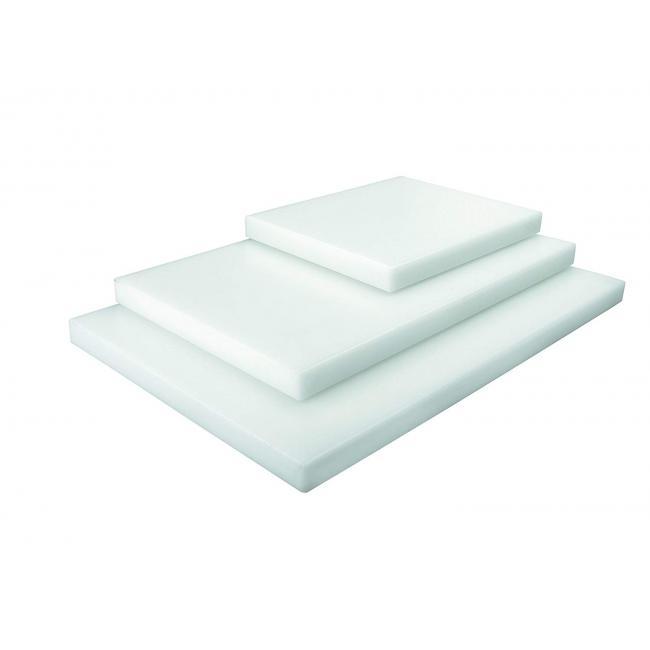 Полиетиленова дъска за рязане, GN 1/2 - 325x265мм , h3см бяла - Lacor