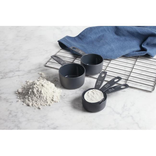 Комплект от 5бр. сиви пластмасови мерителни лъжици- Lacor