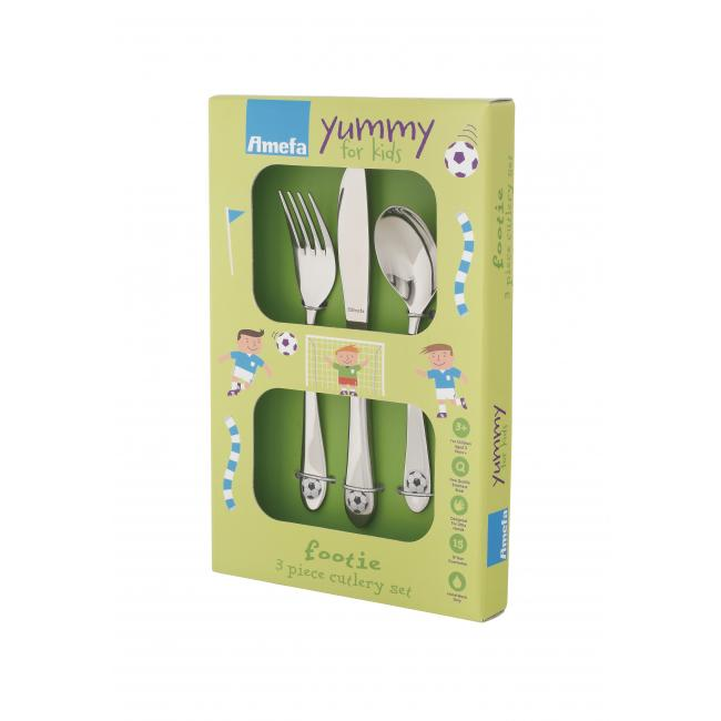 Комплект от 3 бр. детски иноксови прибори за хранене Amefa - Footie