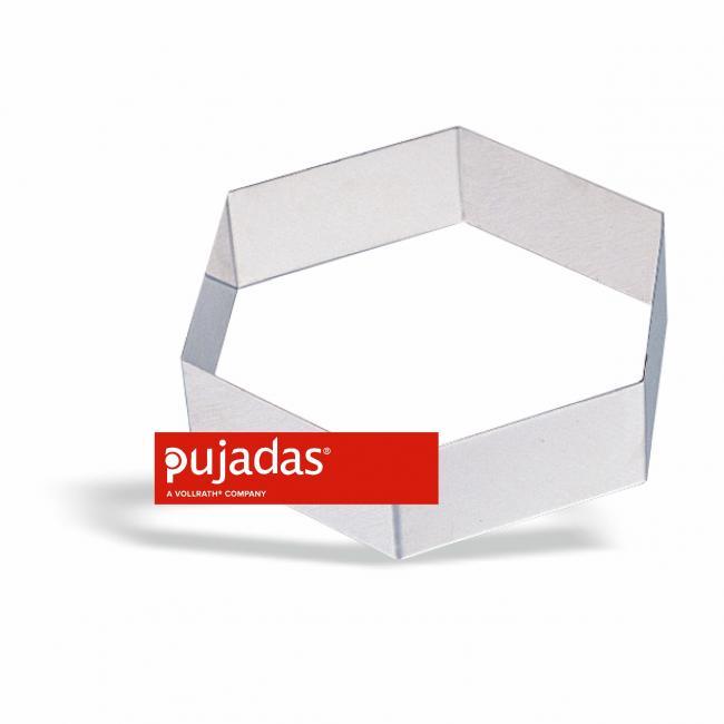 Иноксова форма за блат шестоъгълна 20см, h4,5см - Pujadas