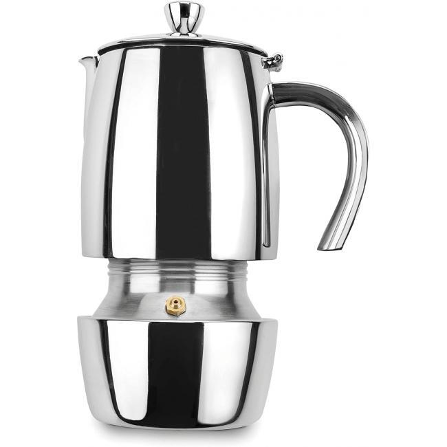 Иноксова кафеварка за еспресо 18/10, за 4 кафета Luxe - Lacor