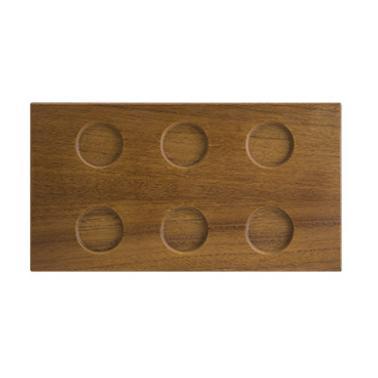Дървена правоъгълна дъска с 6 разделения 31x16,5xh1,5см BONNA-BEECH WOOD MOD-(WDMOD35DT)