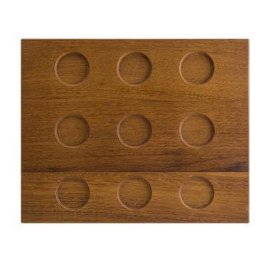 Дървена правоъгълна дъска с 9 разделения 31x25xh1,5смBONNA-BEECH WOOD MOD-(WDMOD40KR)