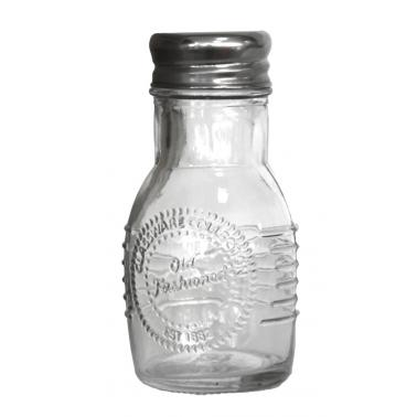Стъклена солница с метално капаче OLD FASHIONED-(212855) - Horecano