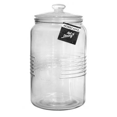 Стъклен буркан  за съхранение с капачка 3л OLD FASHIONED- (213213) - Horecano