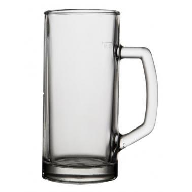 Стъклена халба гладка 500мл