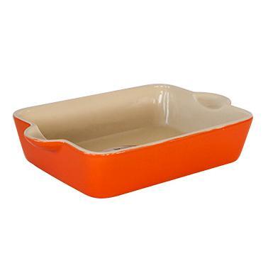 Керамична тава правоъгълна 36.5x22.5x7см оранжева (YR13207C-14.5-О) - Horecano