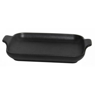 Керамична тавичка овал черна  20x15,4xh3,5см  HORECANO- (1888)
