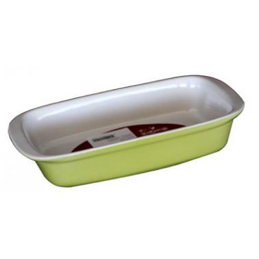 Керамична тава  правоъгълна 25x13,5xh5см зелено/бяло CERUTIL-(PO762)