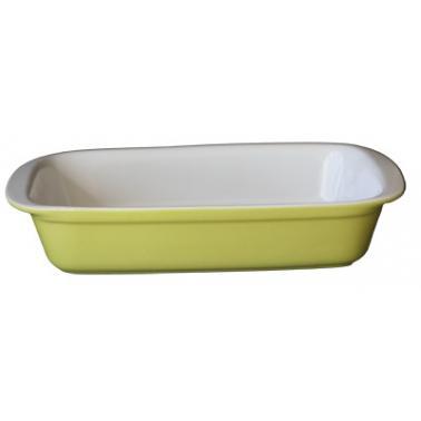 Керамична тава  правоъгълна 36x26xh7см зелено/бяло   CERUTIL-(P0763)
