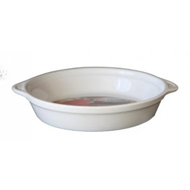 Керамична тава  кръгла  24xh21см бяла  CERUTIL-(P0612)