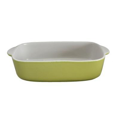 Керамична тава правоъгълна 32x25xh6,5см зелено/бяло CERUTIL-(P0814)