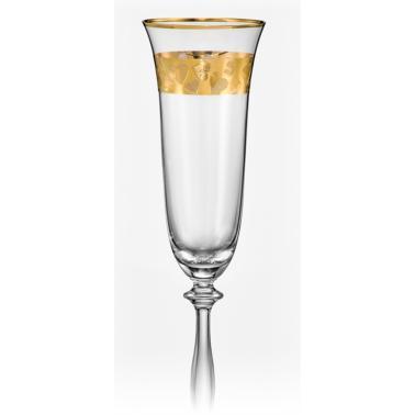 Стъклени ритуални чаши 190мл 2бр със златен кант (40600/438184)(CX71)- Crystalex