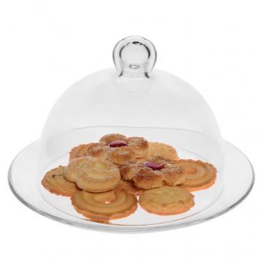 Стъклена чиния с  капак комплект 21xh13,5см VIDIVI-BANQUET (67463M)