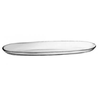 Стъклено плато овално  30x9,5см VIDIVI-FENICE (60155EM)