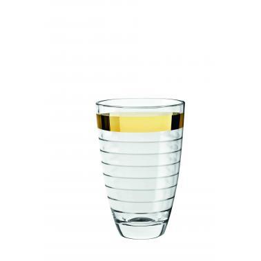 Стъклена ваза    24см със златен кант VIDIVI-BAGUETTE (64426EM)