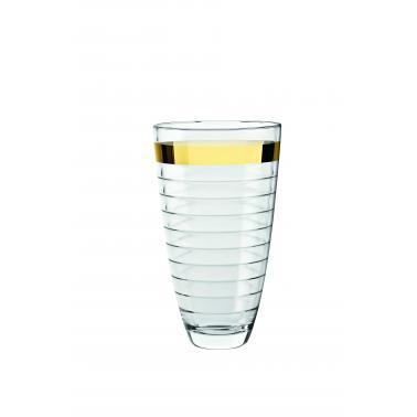 Стъклена ваза  30см със златен кант VIDIVI-BAGUETTE(64425EM)