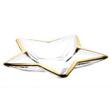 Стъклено плато  със златен кант