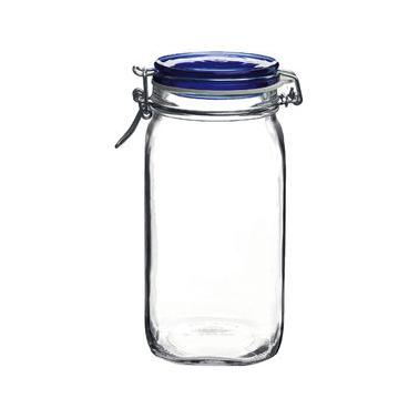 Стъклен буркан  със син капак  1,5л FIDO- (1.49540)  - Bormioli Rocco