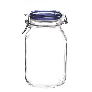 Стъклен буркан  със син капак  2л FIDO- (1.49550)  - Bormioli Rocco
