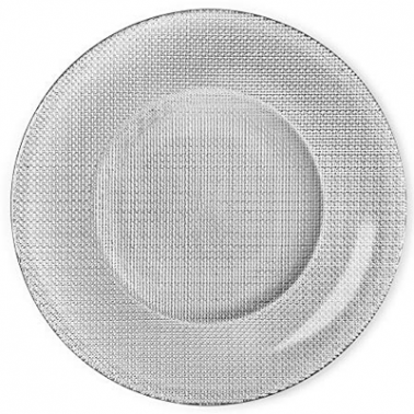Стъклено плато за сервиране ф31см SILVER(4.50012)INCA METALIC - Bormioli Rocco