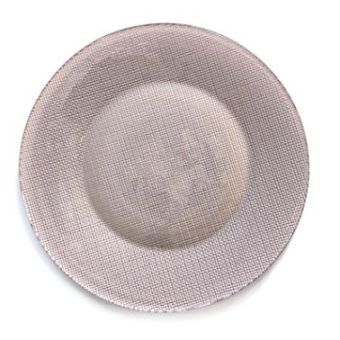 Стъклено плато за сервиране ф31см COPPER -INCA METALLIC (4.50012) - Bormioli Rocco