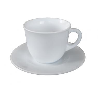 Сервиз аркопал за чай от 6 чаши с чинийки  220мл  TOLEDO (4.97050) - Bormioli Rocco