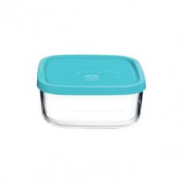 Стъклена квадратна кутия с капак 15x15xh6,4см 1лFRIGOVERRE-(3.87870) - Bormioli Rocco