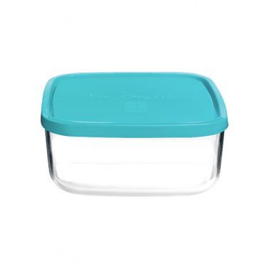 Стъклена квадратна кутия с капак 19x19xh8см 2,025лFRIGOVERRE-(3.88820) - Bormioli Rocco