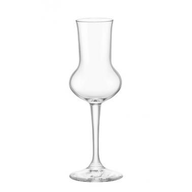 Стъклена чашаза алкохол / аператив на столче GRAPPA 81мл RESTAURANT-(1.66181)- Bormioli Rocco