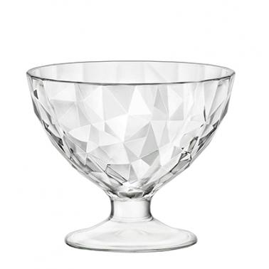 Стъклена купичка за десерти на столче 220мл- DIAMONT - JUNIOR - Bormioli Rocco
