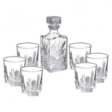 Стъклен комплектза уиски 7 елемента SELECTA-(2.26041)- Bormioli Rocco