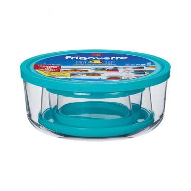 Комплект от 4-ри кръгли стъклени кутии за съхранение FRIGOVERRE-(3.88480)- Bormioli Rocco