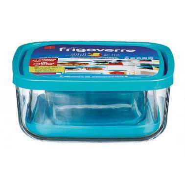 Комплект от 3 квадратни стъклени кутии за съхранение FRIGOVERRE-(3.88550)-Bormioli Rocco