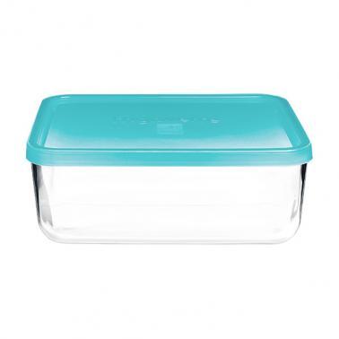 Стъклена правоъгълна кутия с капак 26x21xh9,5см 3,71л FRIGOVERRE-(3.35150)-Bormioli Rocco