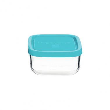 Стъклена квадратна кутия с капак 10x10xh5,1см 345мл FRIGOVERRE-(3.35190.MA2) - Bormioli Rocco
