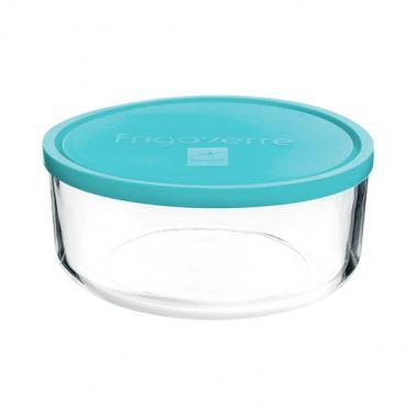 Стъклена кръгла кутия с капак ф23xh9,6см 3,1л FRIGOVERRE-(3.88470.MA4)-Bormioli Rocco