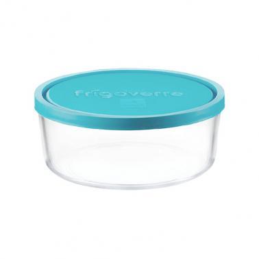 Стъклена кръгла кутия с капак ф18xh7,8см 1,59л FRIGOVERRE-(3.88450.MA1)-Bormioli Rocco