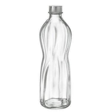 Стъклена бутилка за вода с капачка 1л ф8,9смh28,1см AQUA-(1.91865) - Bormioli Rocco