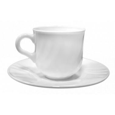Сервиз аркопал за кафе от 6 чаши с чинийки  100мл EBRO - Bormioli Rocco